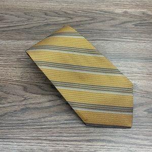 Robert Talbott Gold w/ Navy & Blue Stripe Tie